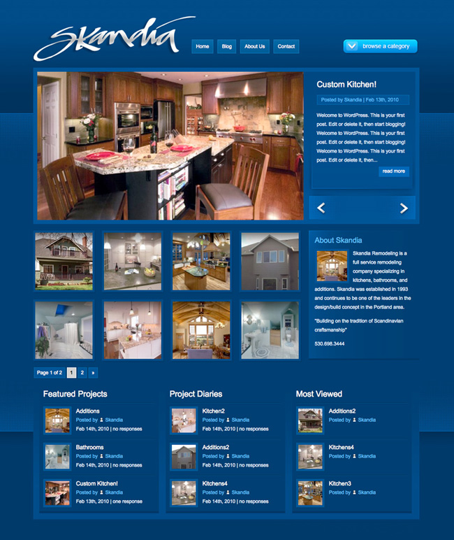 Affordable, Professional SEO Website for Home Remodeler