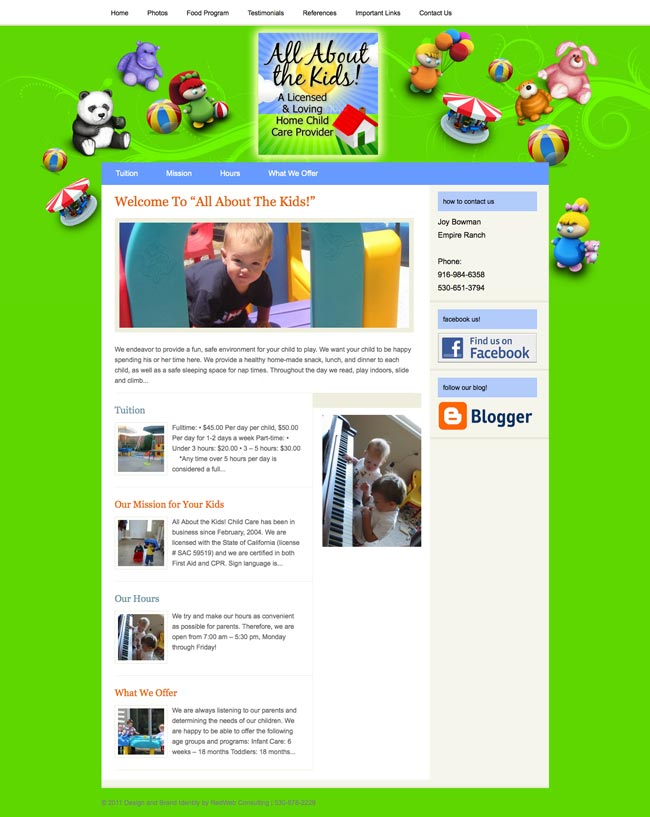 All About The Kids Website Design