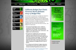California Budget Fact Check